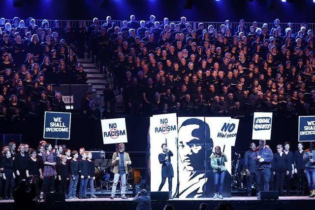 Chor-Musical über Martin Luther King mit mehr als 700 Stimmen ist ein voller Erfolg