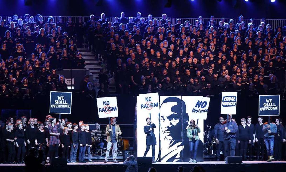 Stimmgewaltig und mit klaren Botschaft... beim Musical  über Martin Luther King  | Foto: Christoph Breithaupt