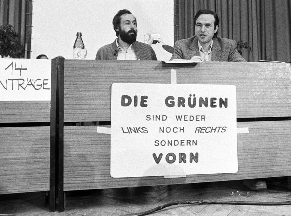 Am 13. Januar 1980 wurde die Bundespar... Partei in mehreren Bundesländern mit.    Foto: -- (dpa)