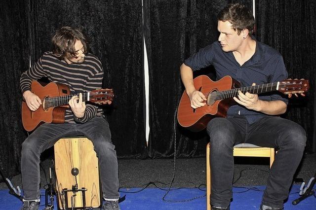 Fliegende Gitarristenfinger