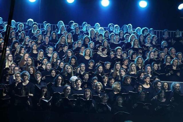 Sängerin war Teil des Riesenchors beim Martin-Luther-King-Musical in Offenburg