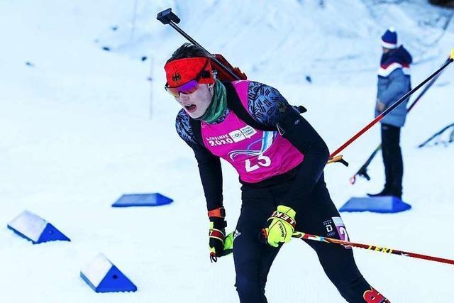 Große Momente für Wiedener Biathlet Elias Asal bei Jugend-Olympia