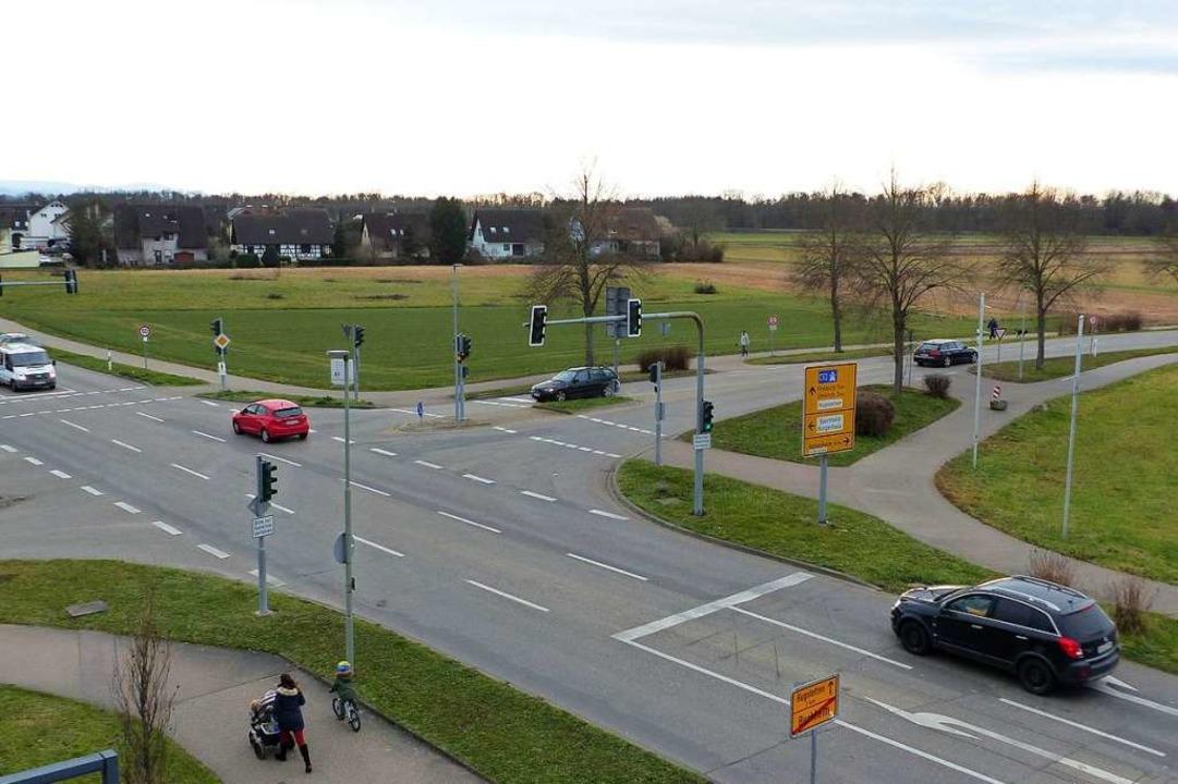 Blick vom Marcher Feuerwehrturm über d...es Gemeindeentwicklungskonzeptes 2035.  | Foto: Claudia Bachmann-Goronzy