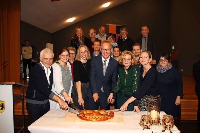 Jörg Kindel wirbt beim Neujahrsempfang in Wittnau für Nachhaltigkeit