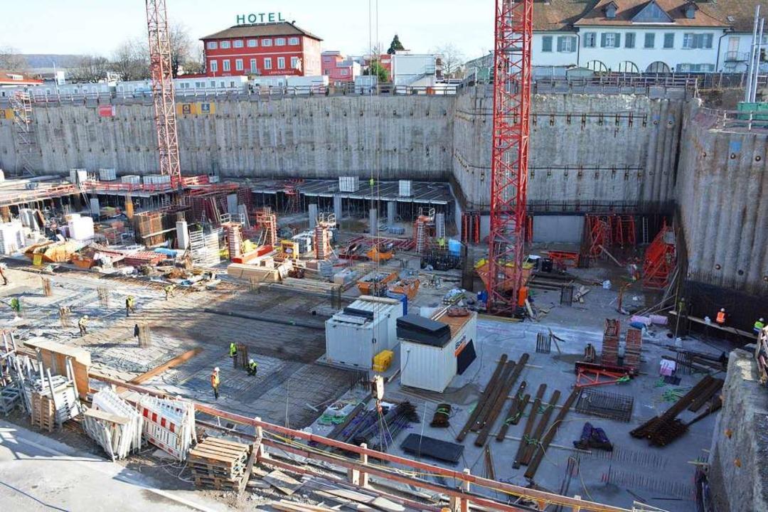 Blick in die Baugrube  | Foto: Hannes Lauber