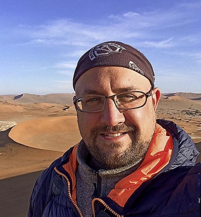 Rolf Lange in der Wüste  | Foto: Rolf Lange
