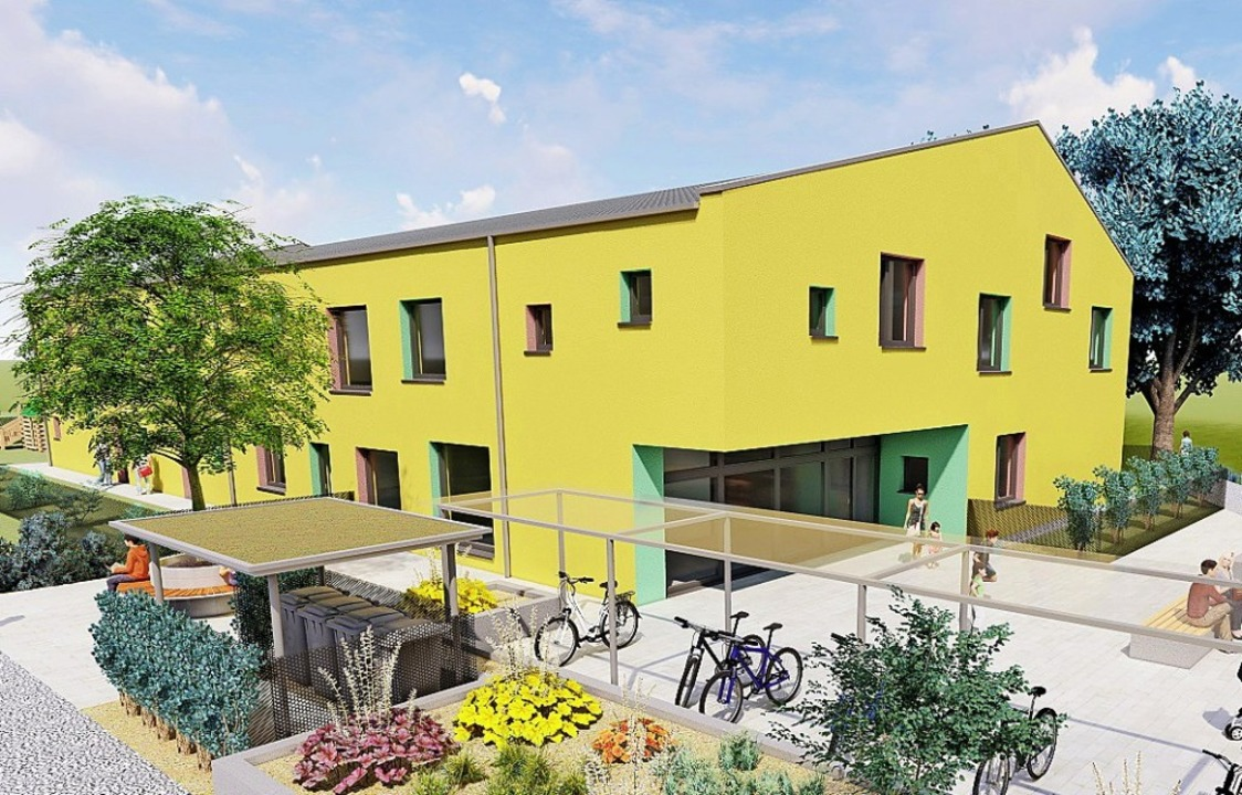 So sehen die ursprünglichen Pläne für ...ier Gruppen in das Gebäude einziehen.   | Foto: Architekturbüro Michler