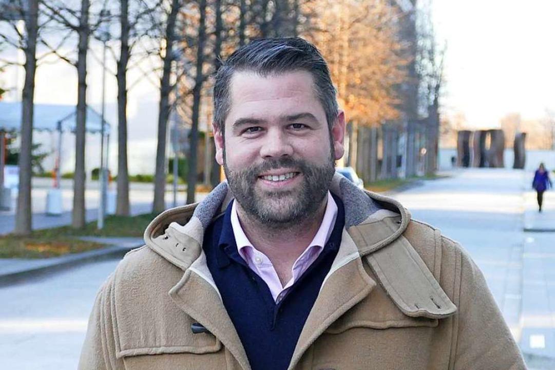 Der zweifache Vater Michael Wieser auf dem Novartis-Campus in Basel  | Foto: Dora Schöls
