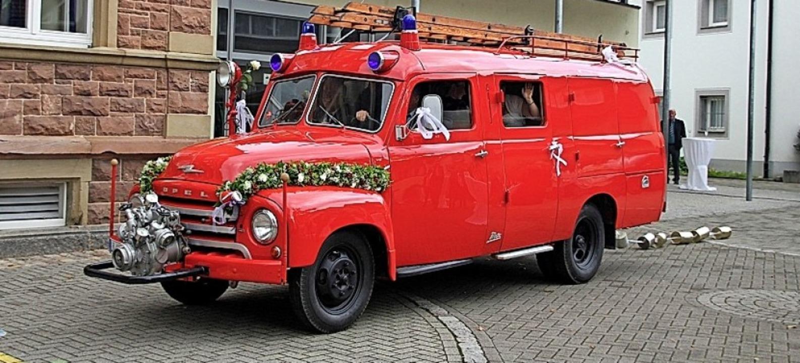 Der Opel Blitz der Kanderner Feuerwehr...ob es verkauft werden soll oder nicht.  | Foto: Feuerwehr Kandern