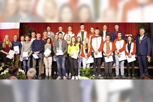 Die Stadt Breisach zeichnet ihre erfolgreichen Sportler aus