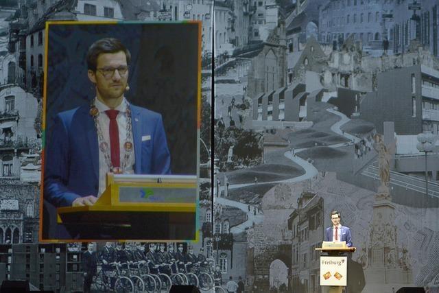 Video: Stadt Freiburg feiert einen Neujahrsempfang im XXL-Format
