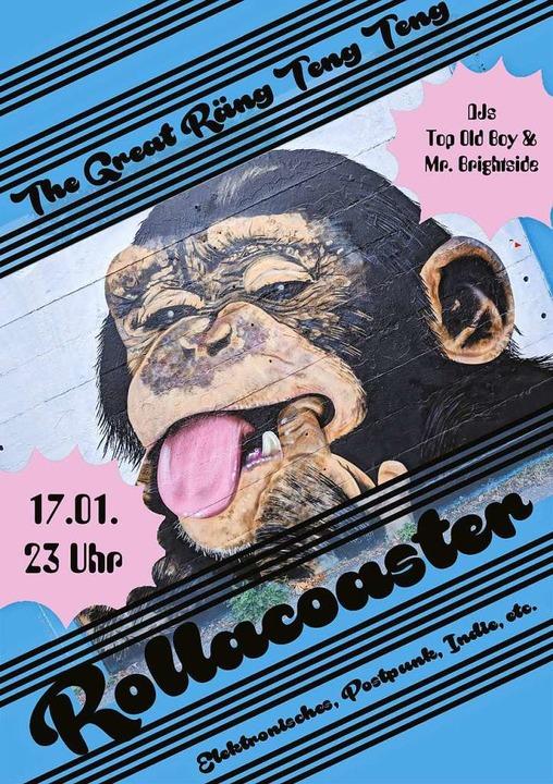 Das Partyplakat zum Rollacoaster Club  | Foto: Veranstalter