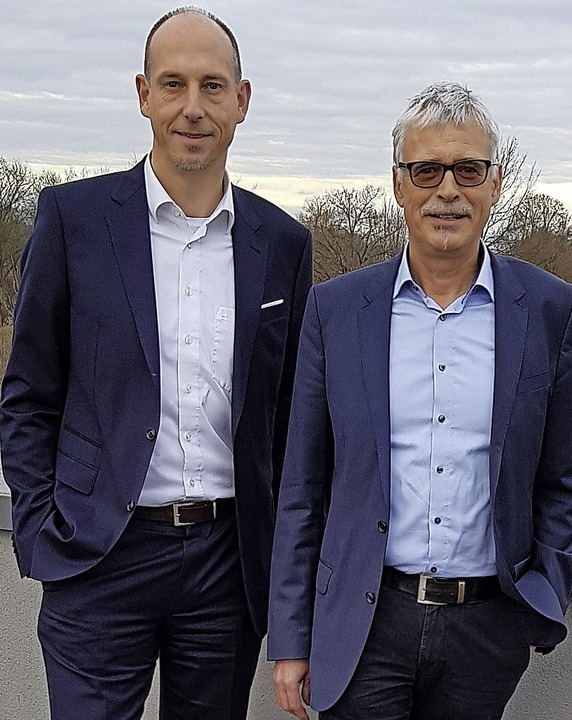 Björn Michel (links), bisher kaufmänni...ng als Geschäftsführer der Stadtwerke.  | Foto: Gerhard Walser