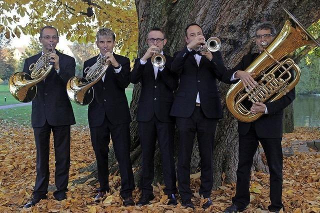 Band Brass5 aus Kenzingen im Gallagher's Nest in Münchweier