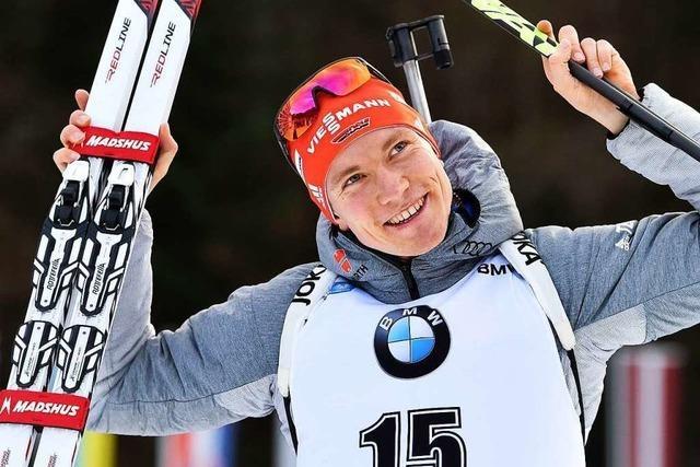 Der Schwarzwälder Benedikt Doll wird Dritter beim Biathlon-Weltcupsprint in Ruhpolding