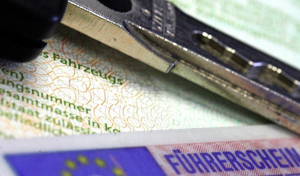 Wegen seines gefälschten Führerscheins...600 Euro Geldstrafe verurteilt worden.  | Foto: Marius Becker