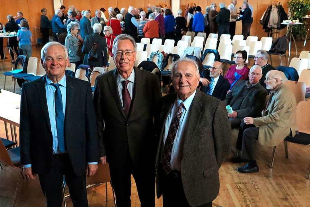 Eine Ära geht zu Ende: Hartmut Scheidt...drich Schöpflin und Jacques Kauffmann.  | Foto: Dorothee Philipp