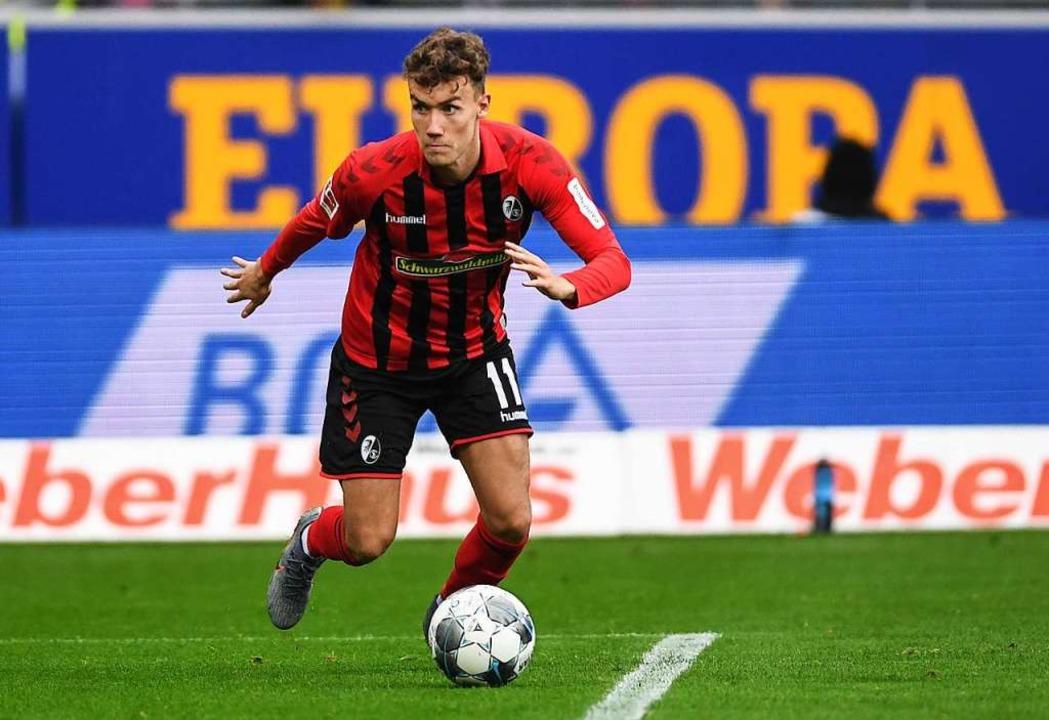 Luca Waldschmidt droht gegen Mainz auszufallen  | Foto: Patrick Seeger (dpa)