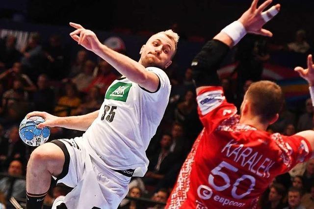 Deutsche Handballer steigern sich und schlagen Weißrussland