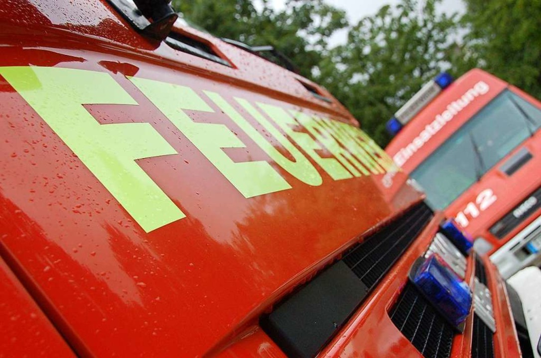 Die Berufsfeuerwehr und die Abteilung ...eiwilligen Feuerwehr waren im Einsatz.  | Foto: Kathrin Blum