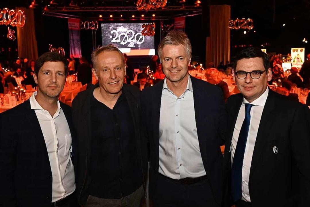 SC-Sportvorstand Jochen Saier, Cheftra...inanzvorstand Oliver Leki (von links).  | Foto: Achim Keller