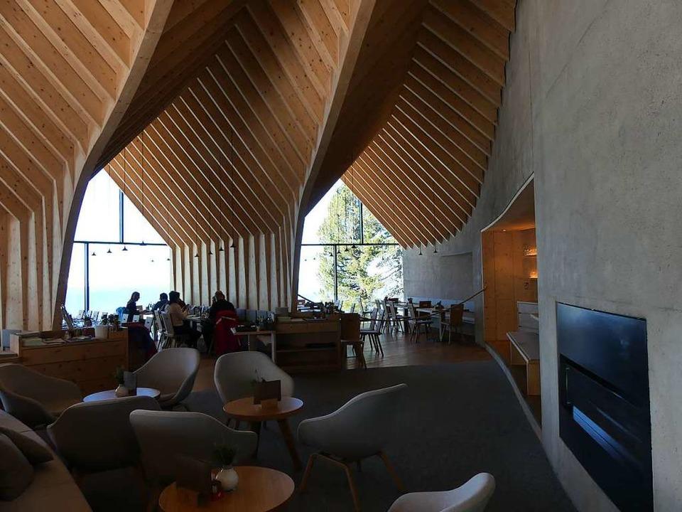 Anspruchsvolle Architektur in der Oberholzhütte  | Foto: Ulrike Ott