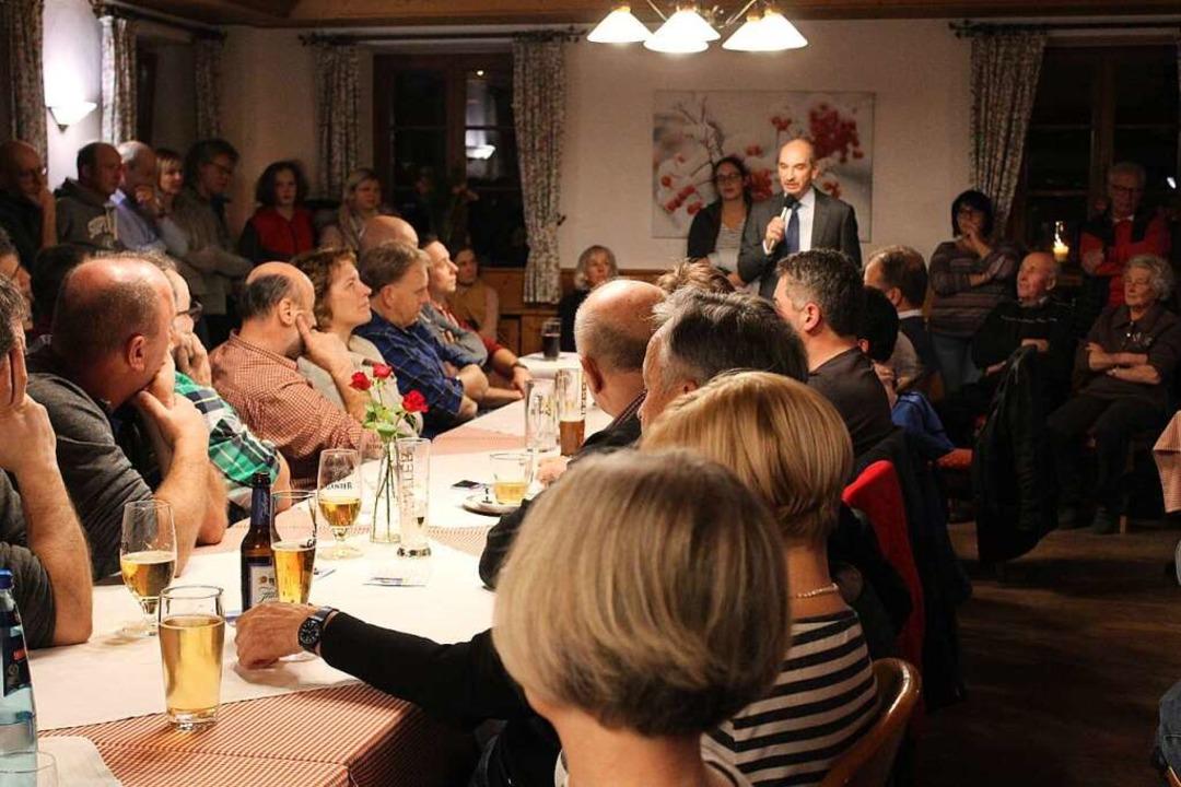 Viele Buchenbacher fanden den Weg zur Kandidatenvorstellung von Ralf Kaiser.  | Foto: Erich Krieger