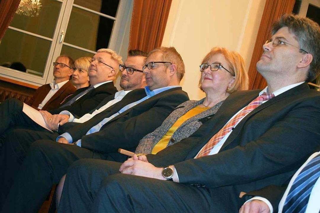 Landrat Martin Kistler und Bürgermeist...eisverleihung im Bad Säckinger Schloss  | Foto: Krug