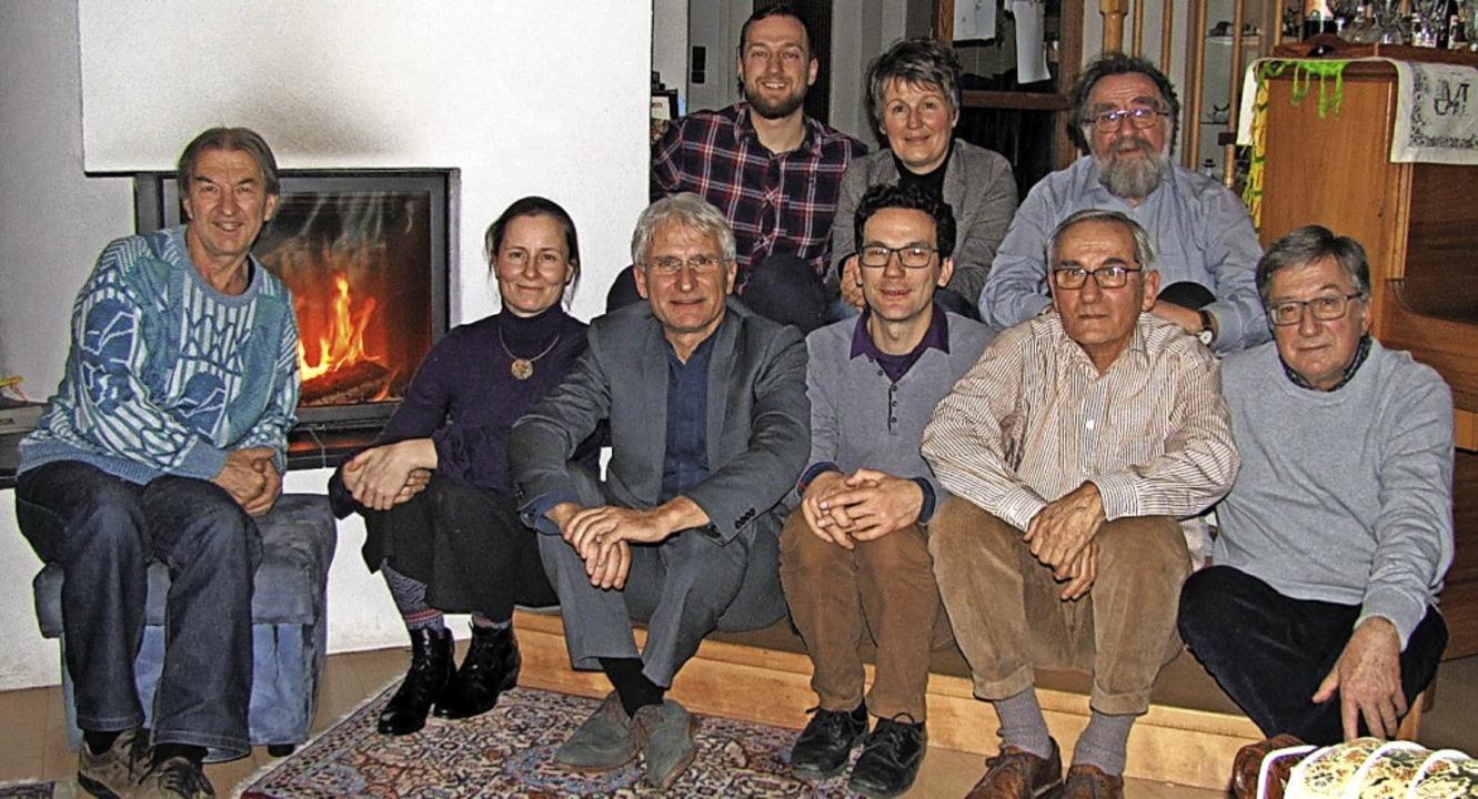 Zum alljährlichen Kaminhock der Schopf...ub, Sabine Imping und Michael Straub.   | Foto: privat