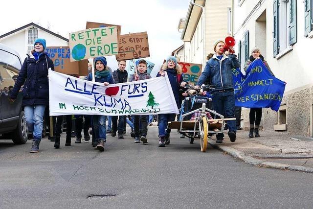 Dritte Aktion der Klimaschutzbewegung in Titisee-Neustadt