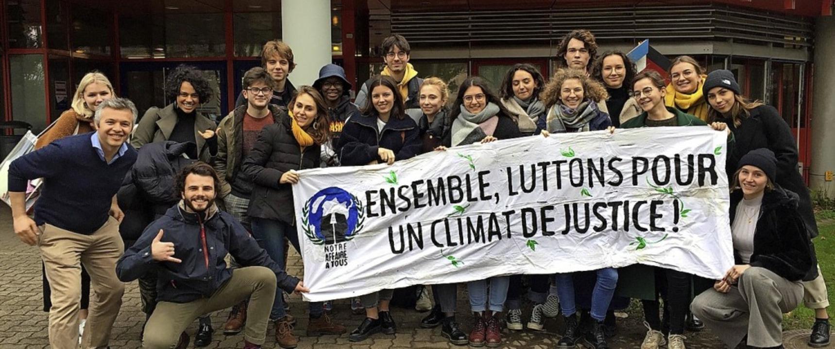 <BZ-FotoAnlauf>Klimaschutz</BZ-FotoAnl...kshop  nun bei den Deutsch-Franzosen.     Foto: schule