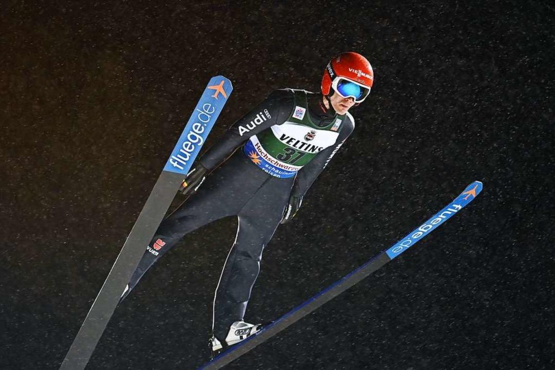 Lokalmatador Stephan Leyhe aus Hinterz...r Qualifikation auf den zweiten Platz.    Foto: Patrick Seeger (dpa)