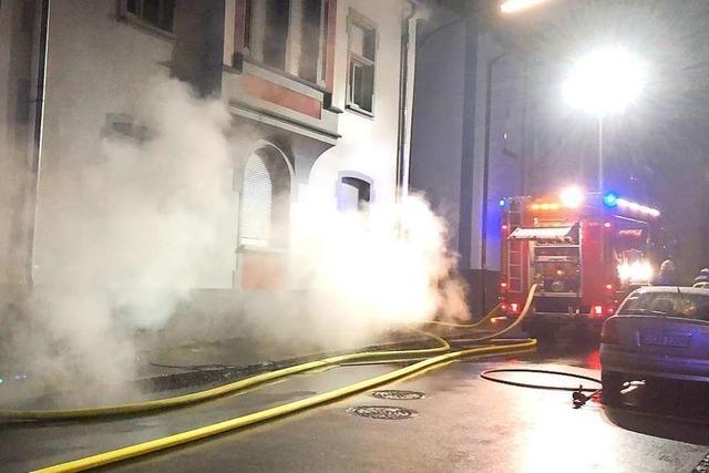 Brand in Schopfheimer Innenstadt löst Feuerwehreinsatz aus