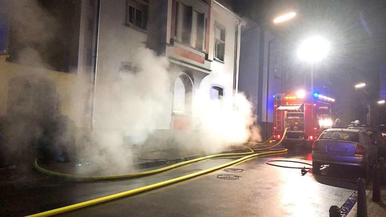 Abendlicher Feuerwehreinsatz in Schopfheim.  | Foto: Nicolai Kapitz
