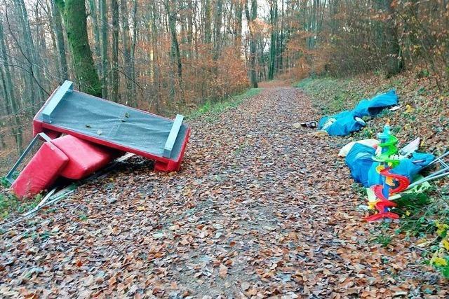 Fälle von illegalen Müllablagerungen in Lörrach und dem Kreis steigen