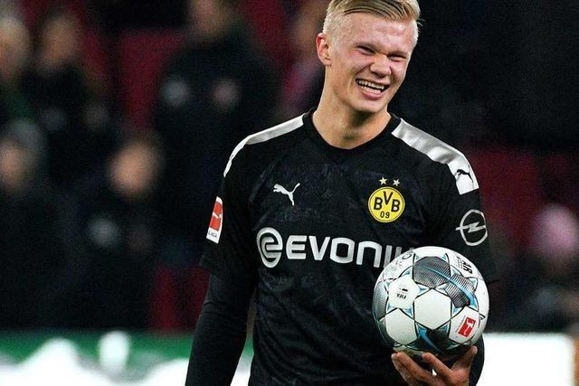 Erling Haaland feiert Drei-Tore-Show beim BVB-Debüt