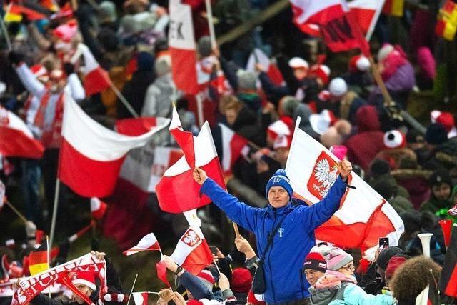 Die polnischen Fans sind komplett aus dem Häuschen