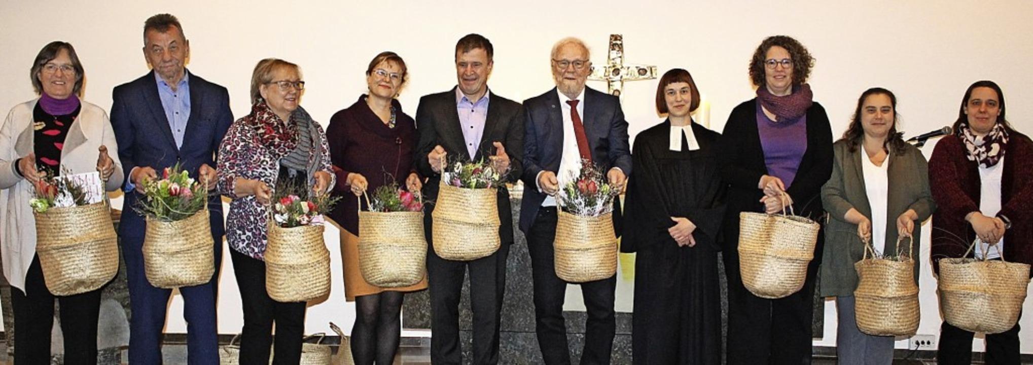 Verabschiedet wurden die bisherigen Ki...eier-La Capra und Antje Kittelberger.   | Foto: Karin Heiß