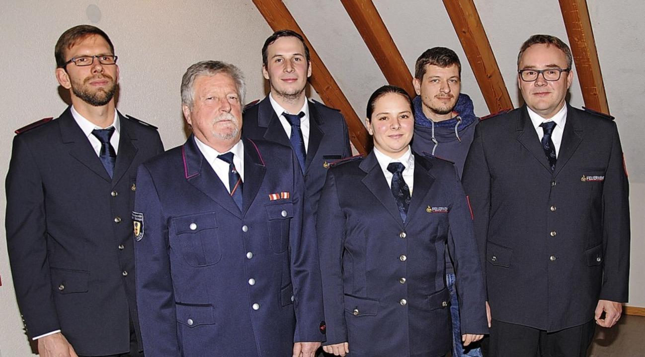 Jonas Gerspach (von links, Beisitzer),...ss der Feuerwehrabteilung Rippolingen.  | Foto: Hans-Walter  Mark