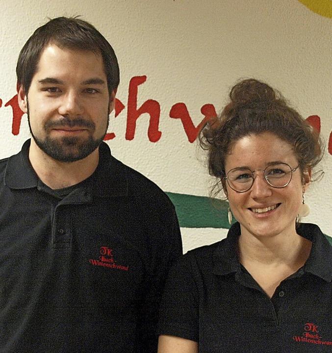 Neu im Vorstand sind Tobias Blasi (ste...) und Ronja Wehrle (Schriftführerin).     Foto: Karin Stöckl-Steinebrunner