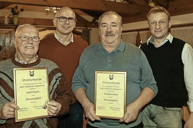 Drei neue Ehrenmitglieder für den Männergesangverein