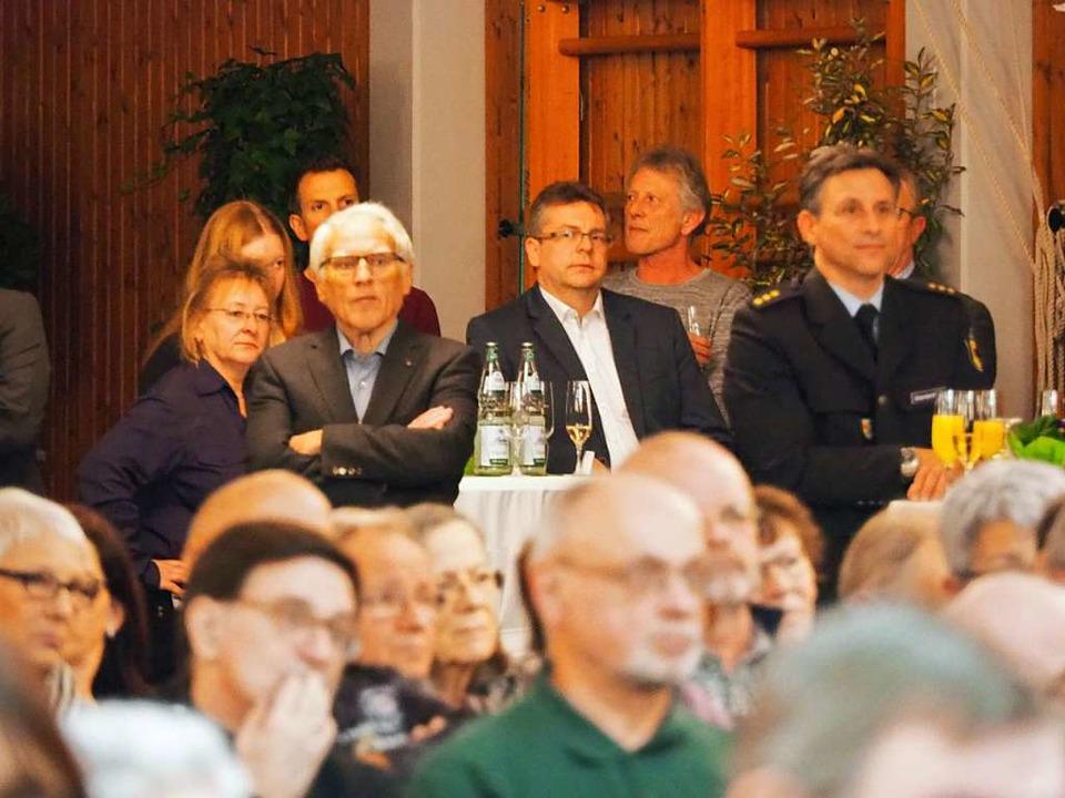 Auch  Kai Brandenburg, Leiter der Bund...rechts) war Gast des Neujahrsempfangs.    Foto: Herbert Frey