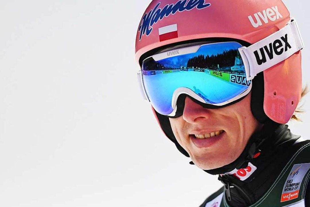 Doppelsieg: Dawid Kubacki aus Polen.  | Foto: Patrick Seeger (dpa)