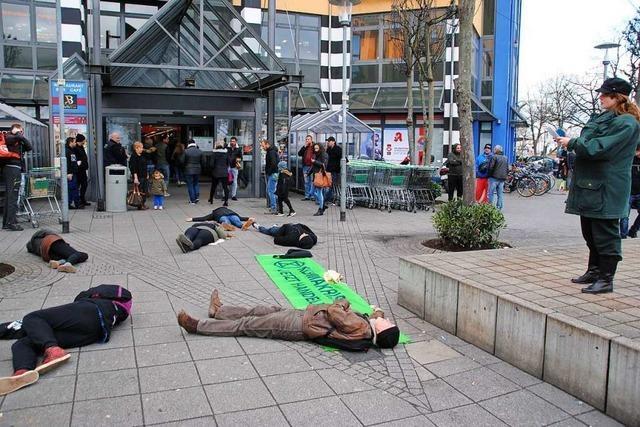 Kaum jemand beachtet die Klimaaktivisten in Weil am Rhein