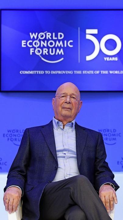Klaus Schwab, Gründer und Vorsitzender des WEF in Davos  | Foto: Markus Schreiber (dpa)
