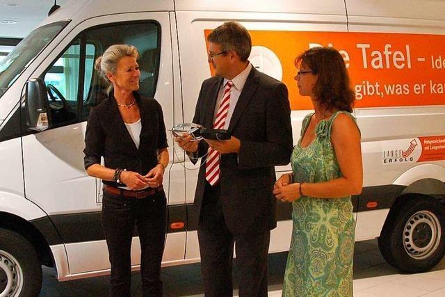 Freiburger Tafel erhält dank Sponsoren und Spender ein neues Kühlfahrzeug