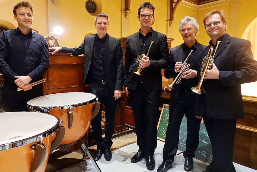 Festliche Barockmusik spielten  Paukis... André und Henry Moderlak (von links).  | Foto: Roswitha Frey