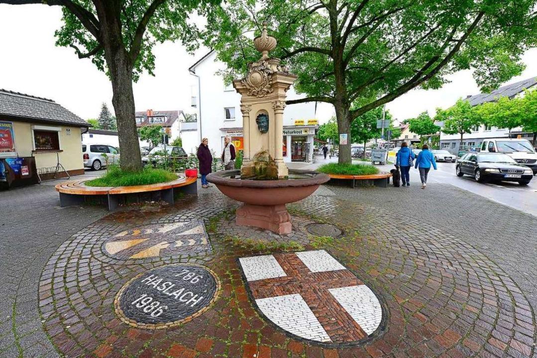 Der Dorfbrunnen in Haslach: Das  Proje...Freiburger Stadtteil zum Ziel gesetzt.    Foto: Ingo Schneider