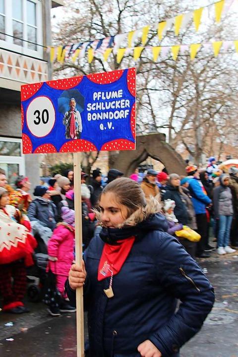 Narrentreffen in Bad Cannstatt. Pflumeschlucker halten sich an Tempo 30.    Foto: Uli Spielberger