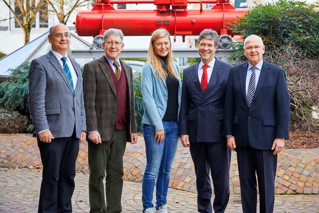 Die Vertreter der Stiftung, Christof S... Jürgen Schmidt vom E-Werk Mittelbaden  | Foto: E-werk